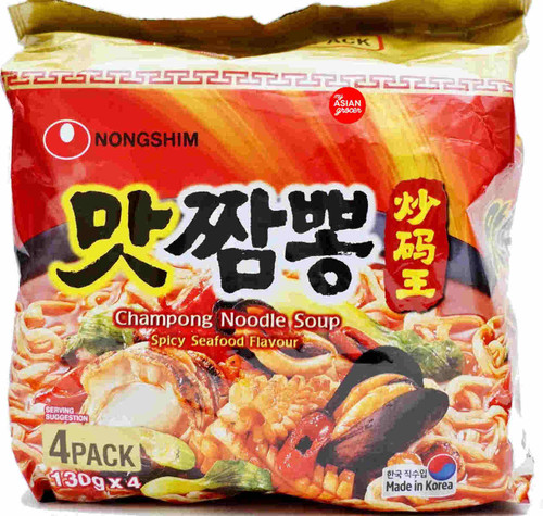 Nongshim Champong Noodle Soup 130g x 4 Pack