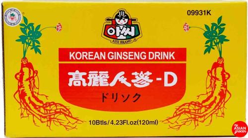 Assi Korean Ginseng Drink 120ml x 10 Bottle