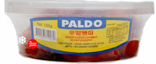 Paldo Dried Radish Cooked in Red Pepper 180g