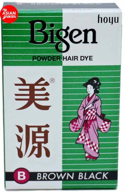 Bigen Powder Hair Dye (B) Brown Black 6g