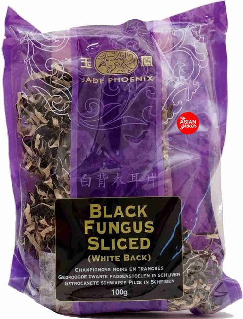 Jade Phoenix Black Fungus Sliced (White Back) 100g