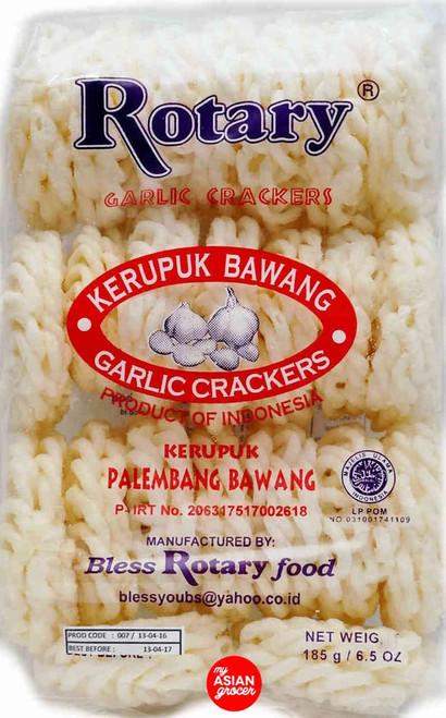 Rotary Garlic Crackers 185g