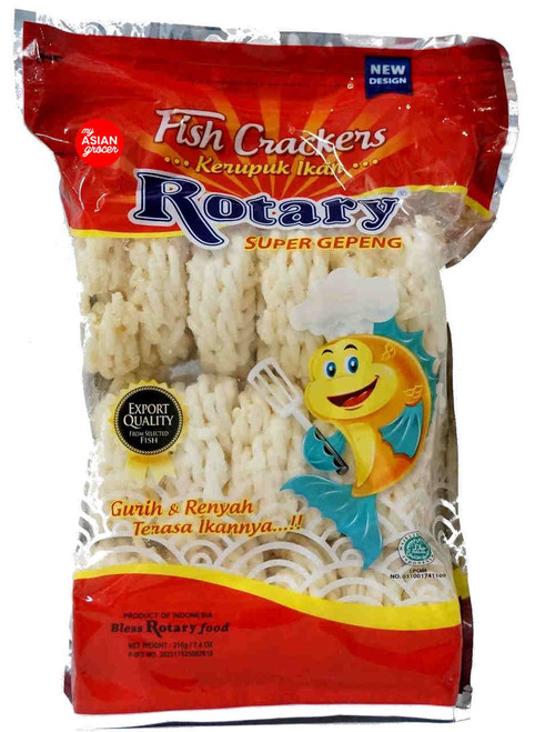 Rotary Super Gepeng Fish Crackers 210g