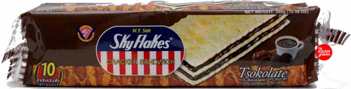 M.Y. San Skyflakes Cracker Sandwich Tsokolate Flavor 300g