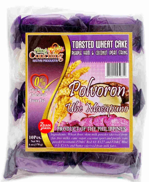 Aling Conching Toasted Wheat Cake Purple Yam & Coconut Sport String 170g