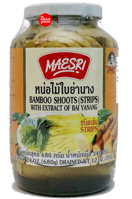 Maesri Bamboo Shoots (Strips) with Extract of Bai Yanang 680g