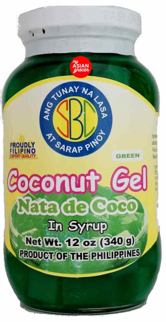 SBC Coconut Gel in Syrup (Green) 340g