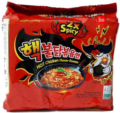 "Samyang Hot Chicken ""Nuclear"" Ramen 2x Spicy 140g x 5 Pack"