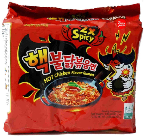 "Samyang Hot Chicken ""Nuclear"" Ramen 2x Spicy 140g x 5 Pack"
