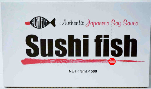 Authentic Japanese Soy Sauce Sushi Fish 3ml x 500