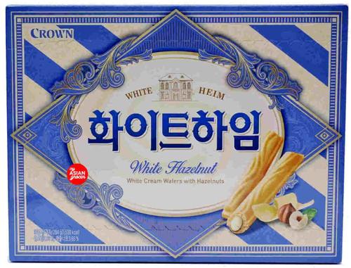Crown White Heim Cream Wafers with Hazelnuts 284g