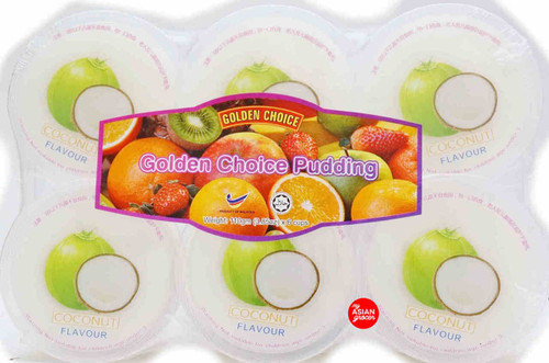 Golden Choice Pudding Coconut Flavour 110g x 6 cups