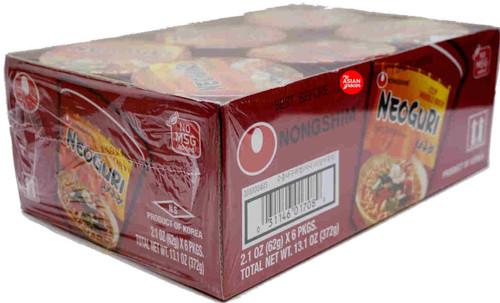 Nongshim Neoguri Cup Noodle Soup 62g x 6