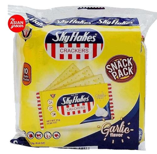 M.Y. Sans Skyflakes Crackers Garlic Flavor 250g