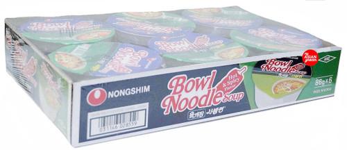 Nongshim Bowl Noodle Soup Hot & Spicy Flavor 86g x 6 Pack