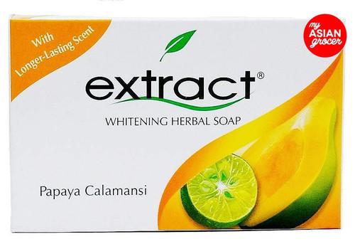 Extract Whitening Herbal Soap Papaya Calamansi 125g