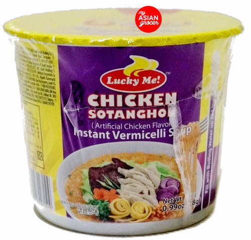 Lucky Me Chicken Sotanghon Instant Vermicelli Soup 28g