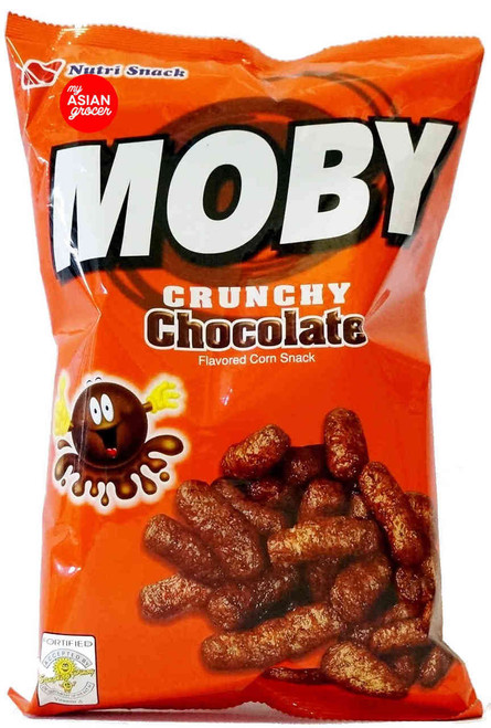 Nutri Snack Moby Crunchy Chocolate Flavored Corn Snack 90g