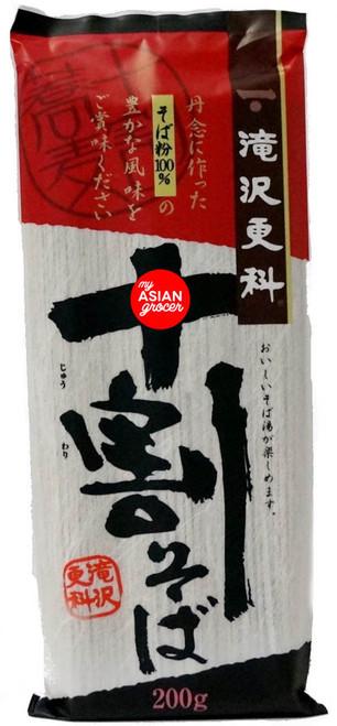 Nisshin Foods Takizawa Sarashina Jyuwari Soba Noodle 200g