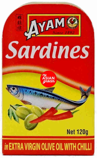 Ayam Sardines in Extra Virgin Olive Oil with Chilli 120g