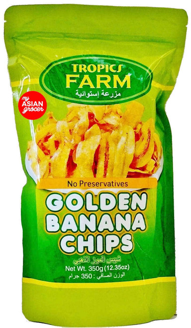 Tropic Farm Golden Banana Chips 350g
