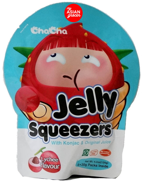 ChaCha Jelly Squeezers Lychee Flavour 20g x 6 Pack