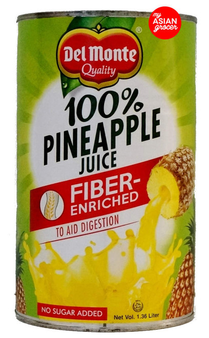 Del Monte 100% Pineapple Juice Fiber Enriched 1.36L