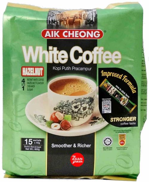 Aik Cheong 4 in 1 White Coffee Hazelnut 40g x 15 Sachet