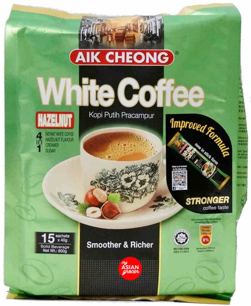 Aik Cheong 4 in 1 White Coffee Hazelnut 40g x 15 Sachet