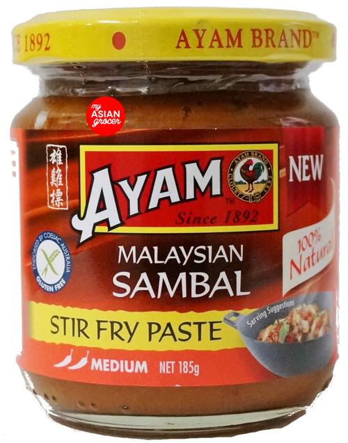 Ayam Malaysian Sambal Stir Fry Paste 185g