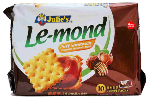 Julie's Le-mond Puff Sandwich Chocolate Hazelnut Cream 180g