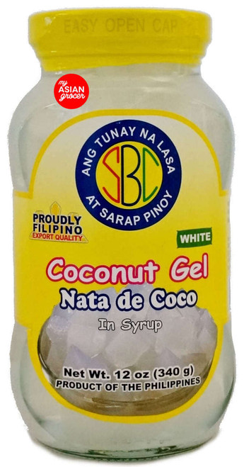 SBC Coconut Gel Nata De Coco in Syrup (White) 340g