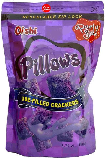 Oishi Pillows Ube-Filled Crackers 150g