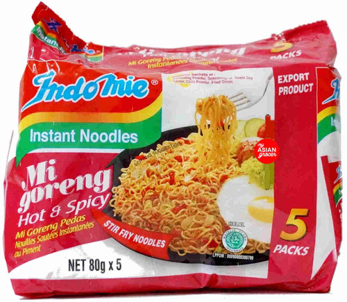 Indomie Mi Goreng Hot & Spicy 80g x 5 Pack
