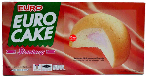 Euro Cake Strawberry 17g x 12 Pieces