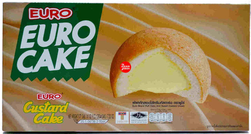 Euro Cake Custard Cake 17g x 12 Pieces