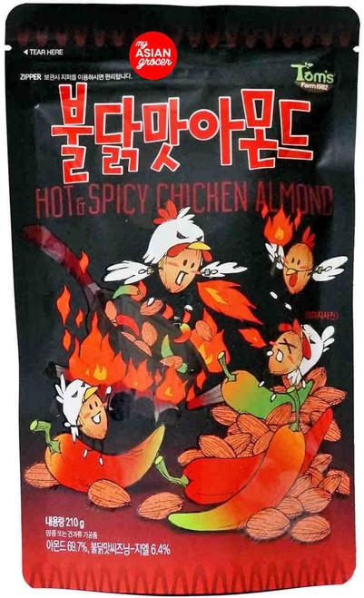 Tom's Farm1982 Hot & Spicy Chicken Almond 210g