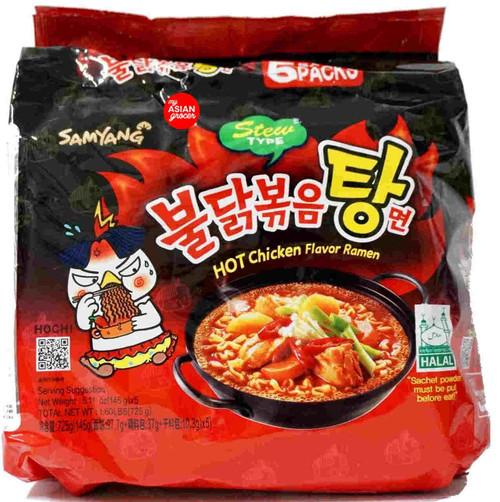 Samyang Hot Chicken Flavor Ramen (Stew Type) 145g x 5 Pack