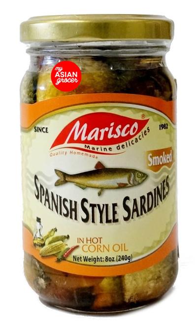 Marisco Spanish Style Sardines (Smoked) in Hot Corn Oil 240g