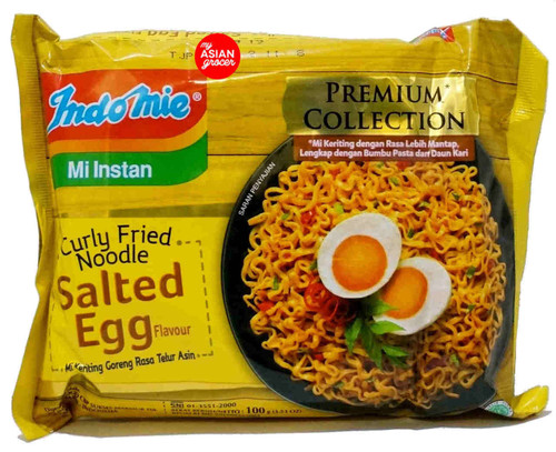 Indomie Curly Fried Noodle Salted Egg Flavour 100g