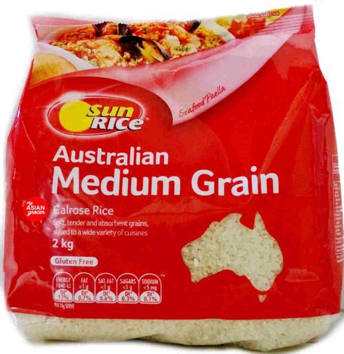 Sun Rice Australian Medium Grain Calrose Rice 2kg