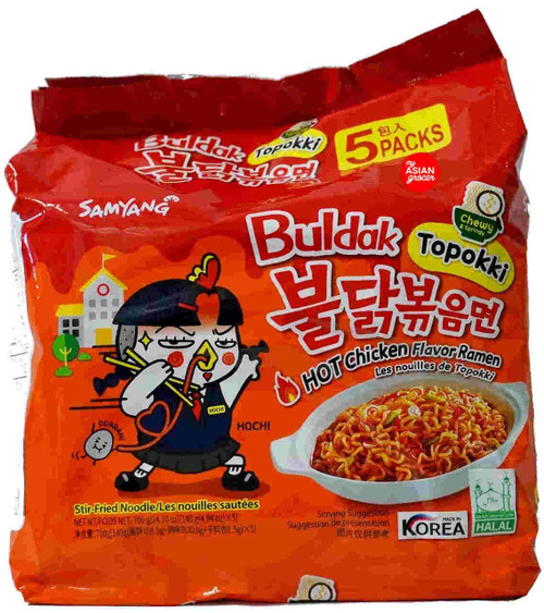 "Samyang Hot Chicken ""Buldak Topokki"" Ramen 140g x 5 Pack"