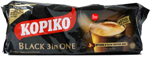Kopiko Black 3 in 1 Strong & Rich Coffee Mix 25g x 30