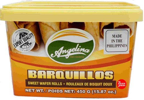 Angelina Barquillos Sweet Wafer Rolls 450g