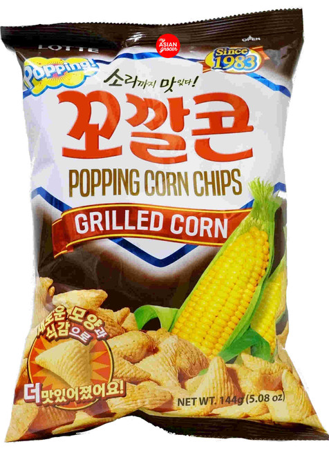 Lotte Popping Corn Chips Grilled Corn 144g