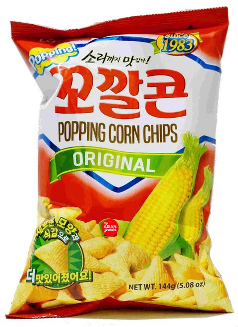Lotte Popping Corn Chips Original 144g