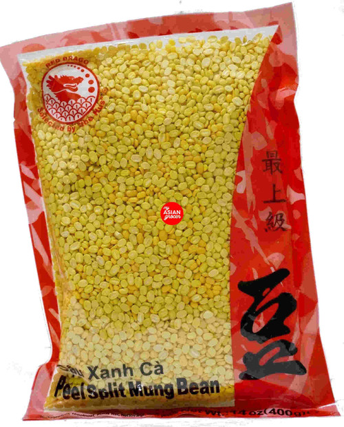 Red Drago Peel Split Mung Bean 400g