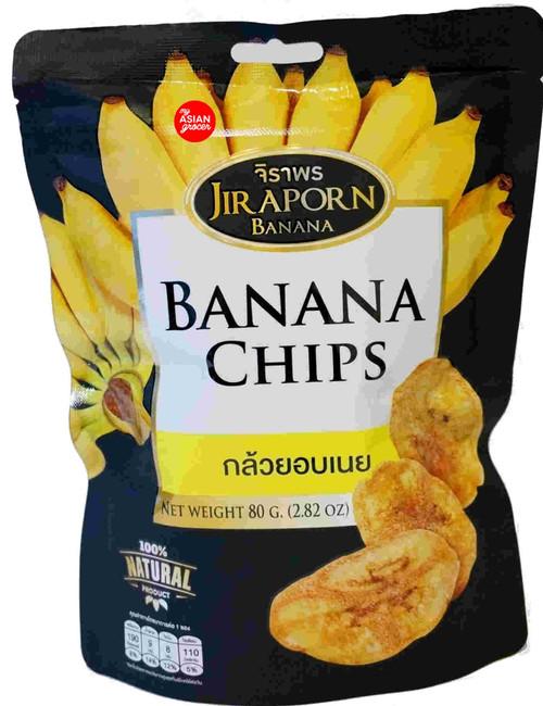 Jiraporn Banana Chips 80g