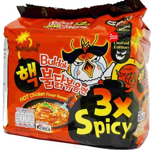 Samyang Buldak Hot Chicken Flavor Ramen (3x Spicy) 140 g x 5 Pack