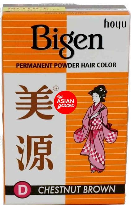 Bigen Permanent Powder Hair Color (D) Chestnut Brown